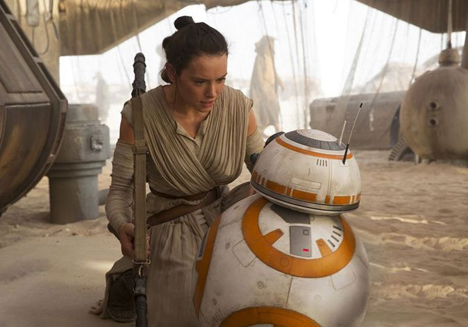 Daisy Ridley's Rey with BB-8