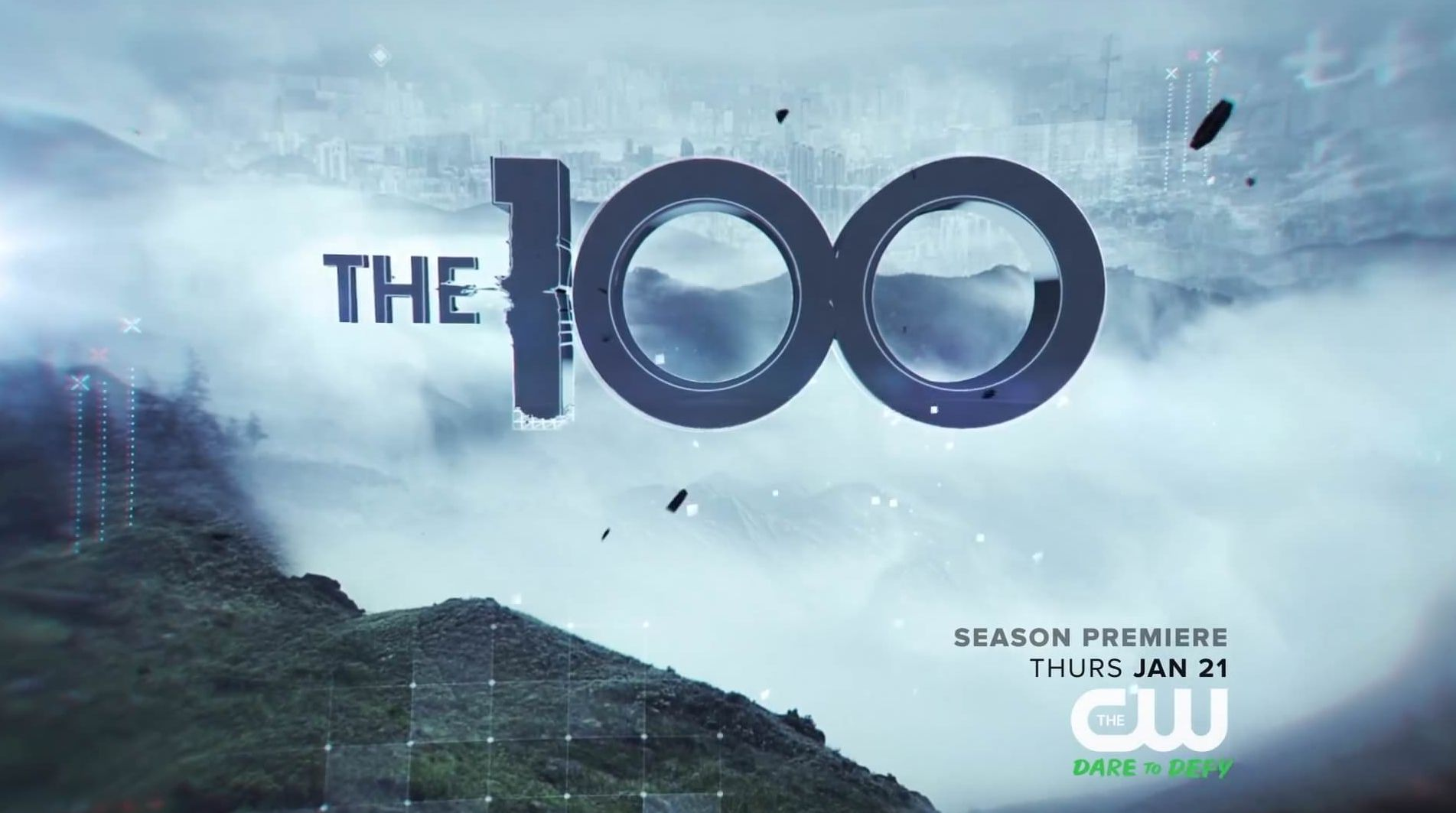 The 100 Season Three title card