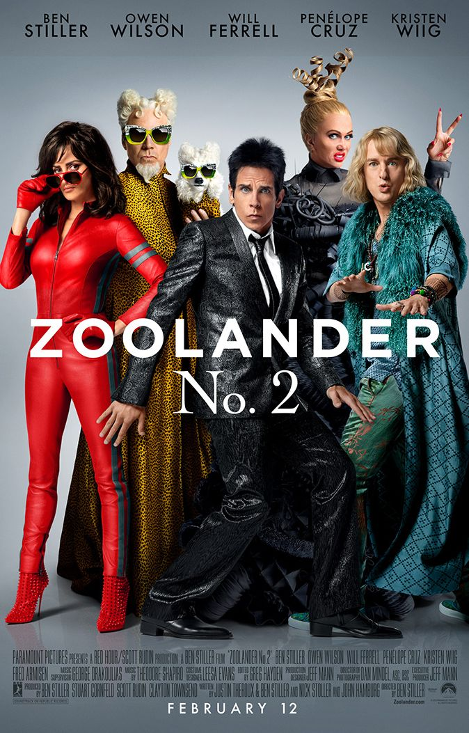 Zoolander 2 Cast Features in Poster