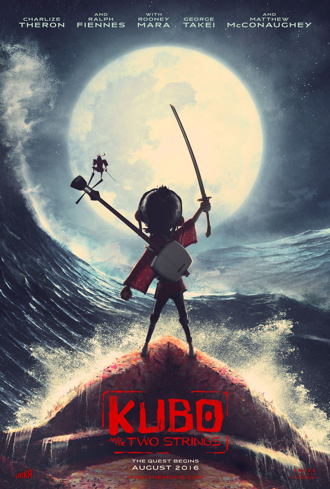 First Poster for Kubo and the Two Strings, from the Makers o