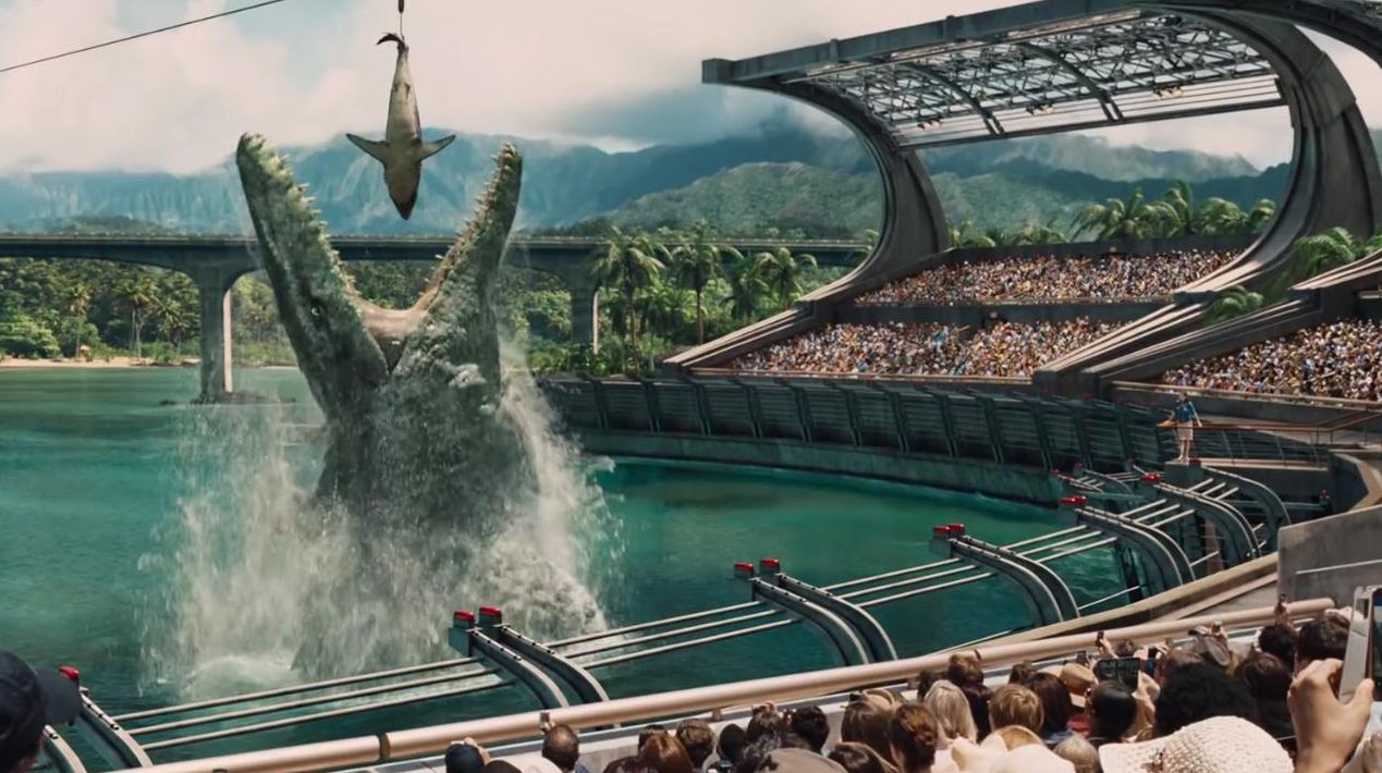 The big fish eats the little one in Jurassic World, and in C