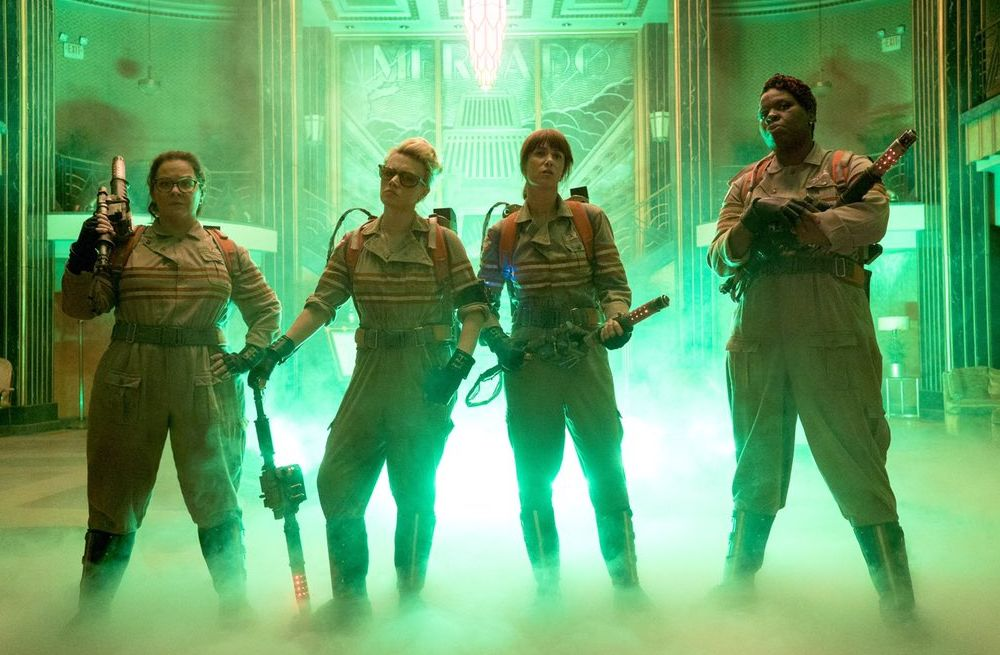New photo released of the female Ghostbusters. Coming July 1