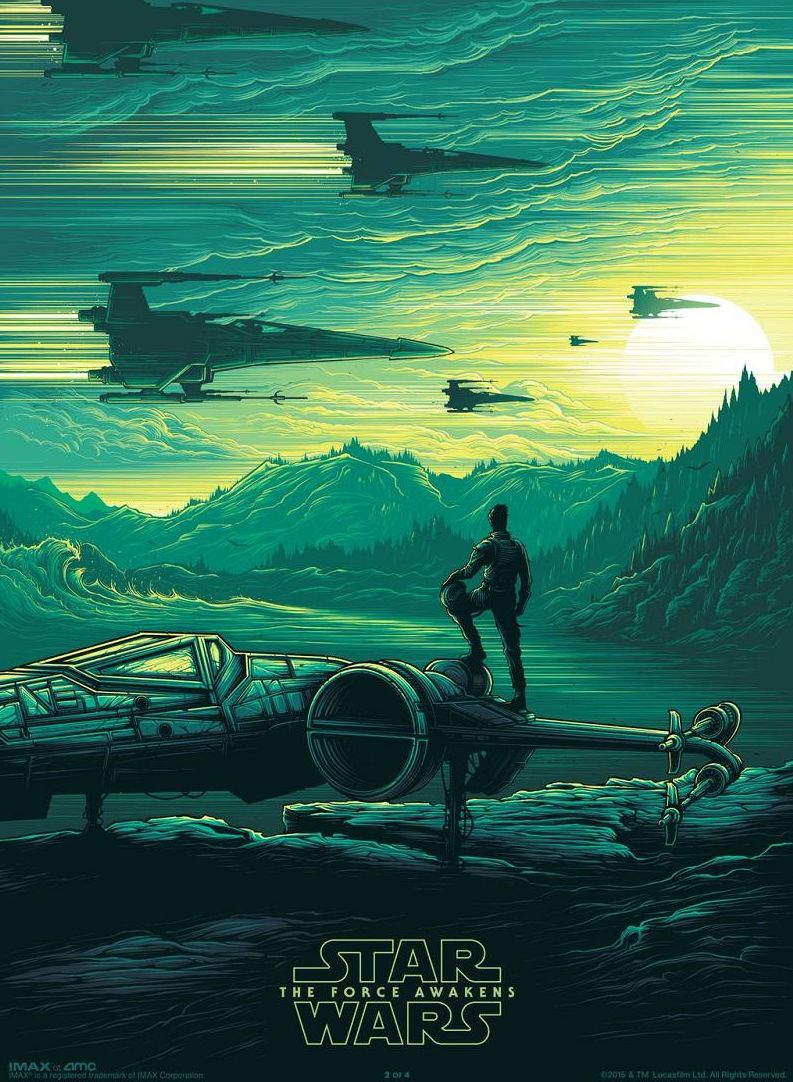 Poe Dameron features in the latest IMAX poster
