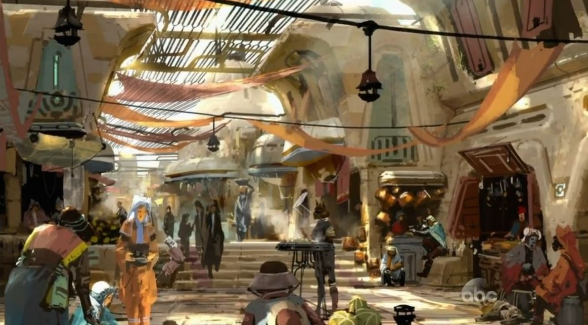 The Marketplace that will be featured in Star Wars Land