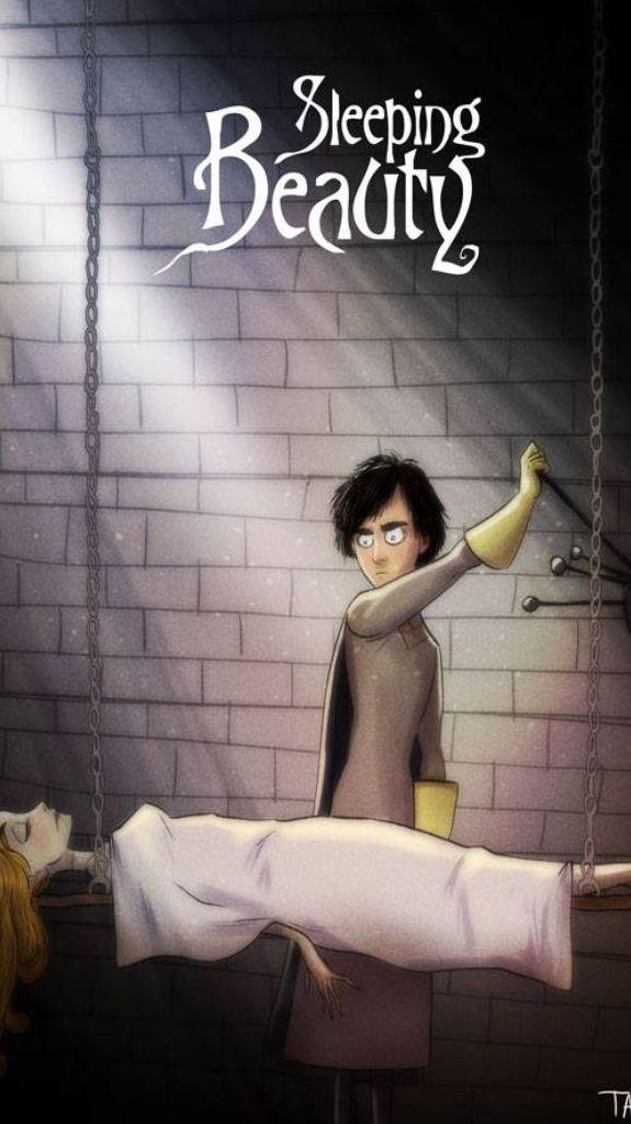 Artist Andrew Tarusov gives Disney Characters a Tim Burton F