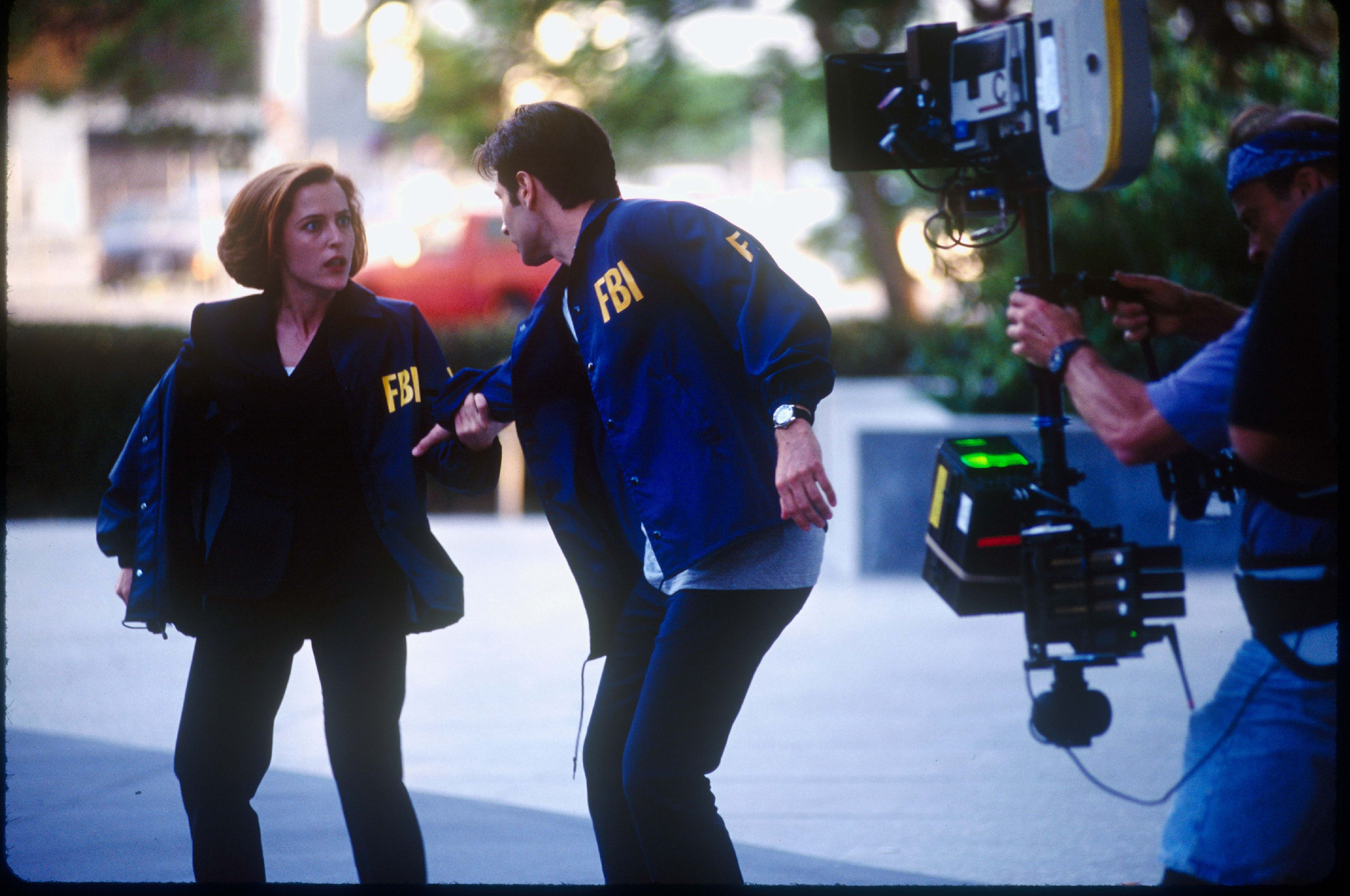 On the set of X-Files: Fight the Future