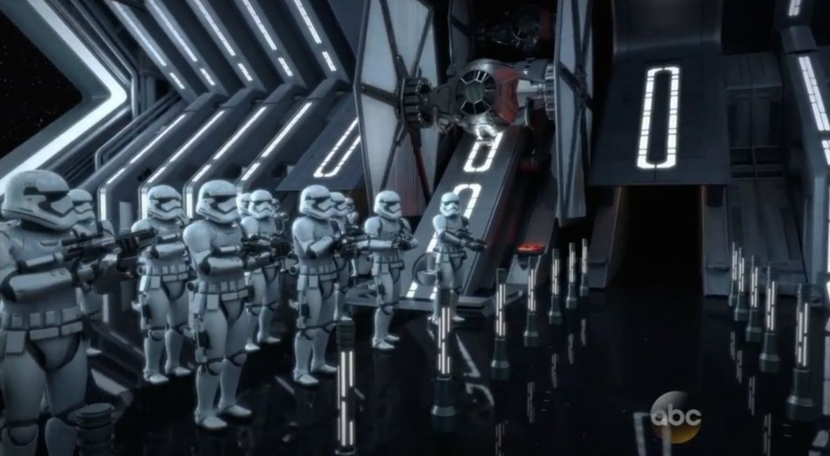 Concept art from the First Order VS Resistance Attraction
