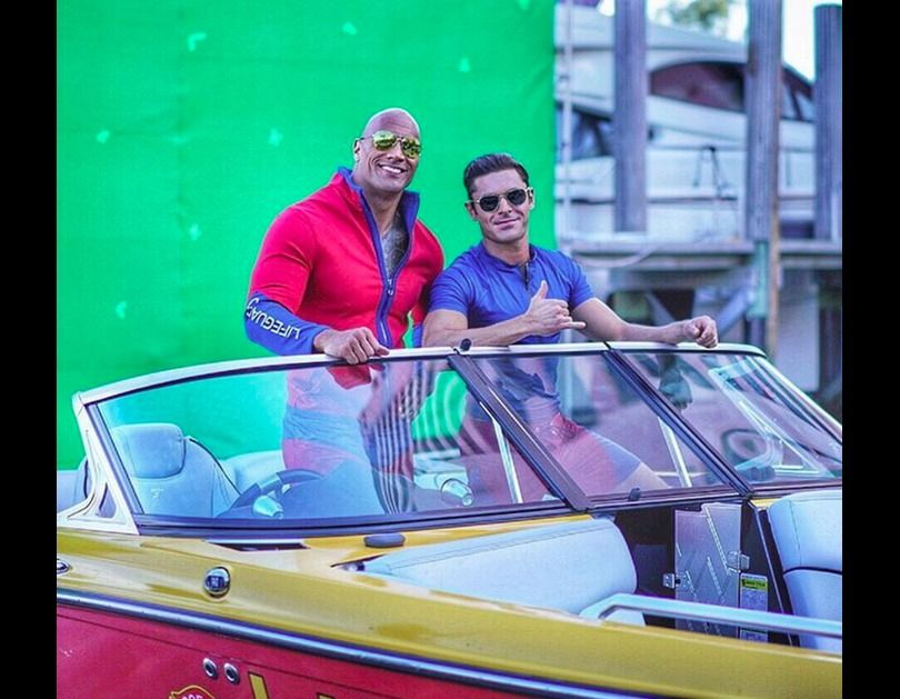 Dwayne Johnson as Mitch Buchannon & Zac Efron as Matt Brody