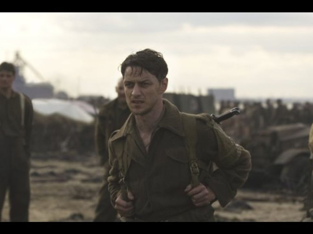 James on the beach during WW2 in the second half of the movi