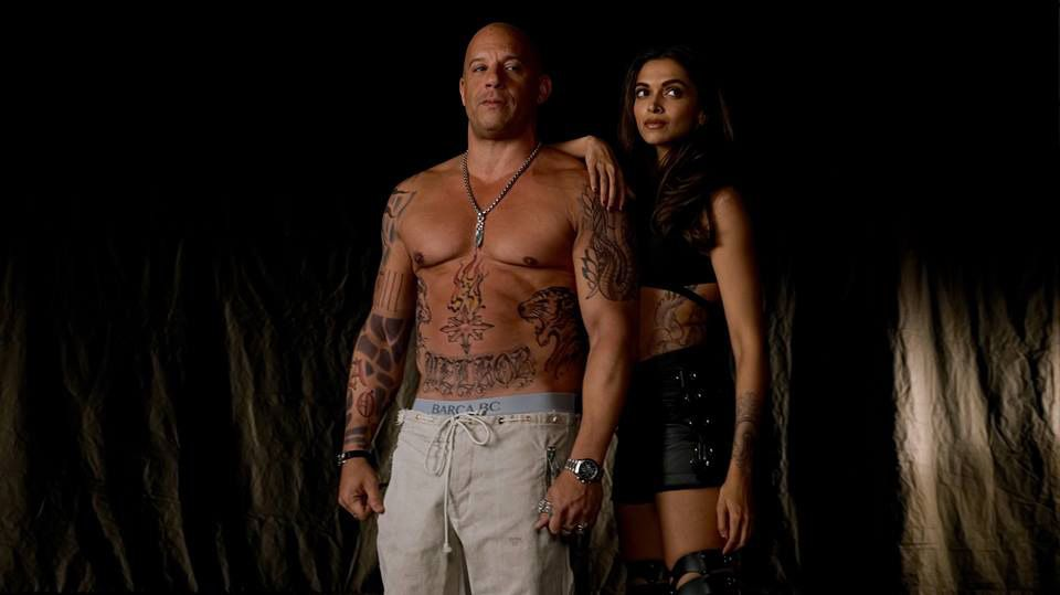 set photo (Vin Diesel and Deepika Padukone)