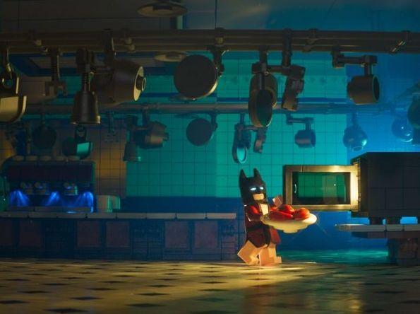 Lego Batman in the kitchen