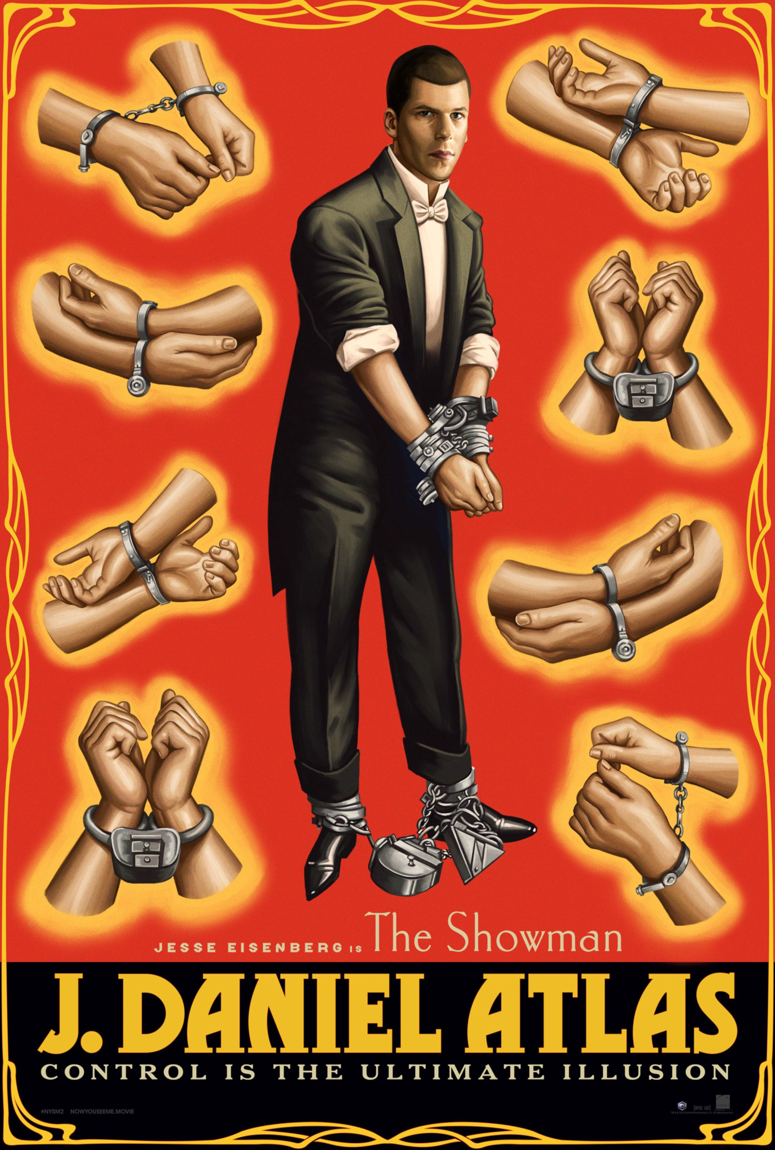 Jesse Eisenberg in retro poster for Now You See Me 2