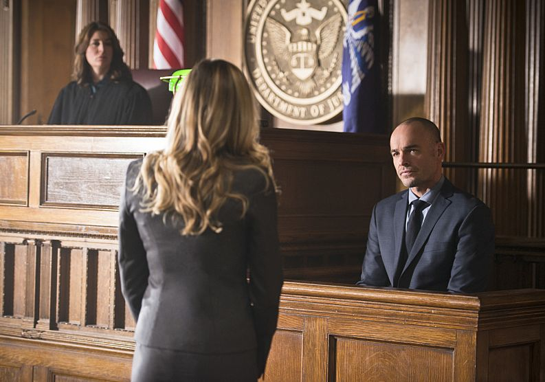 Captain Lance testifying against Damian Darhk
