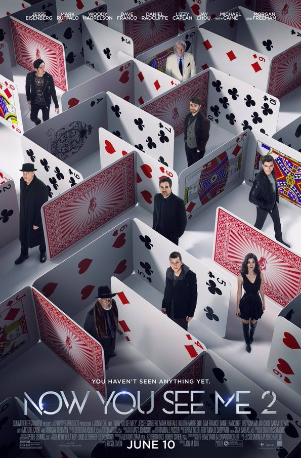 A maze of cards in the new poster for Now You See Me 2
