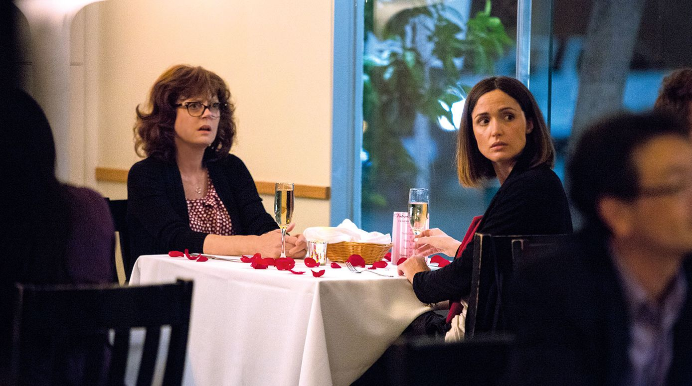 "Susan Sarandon and Rose Bryne in ""The Meddler"""