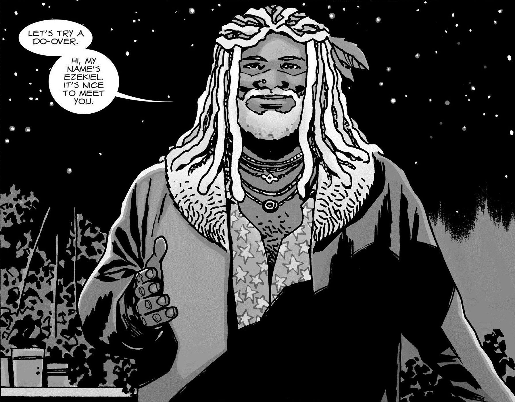 Ezekiel in 'The Walking Dead'
