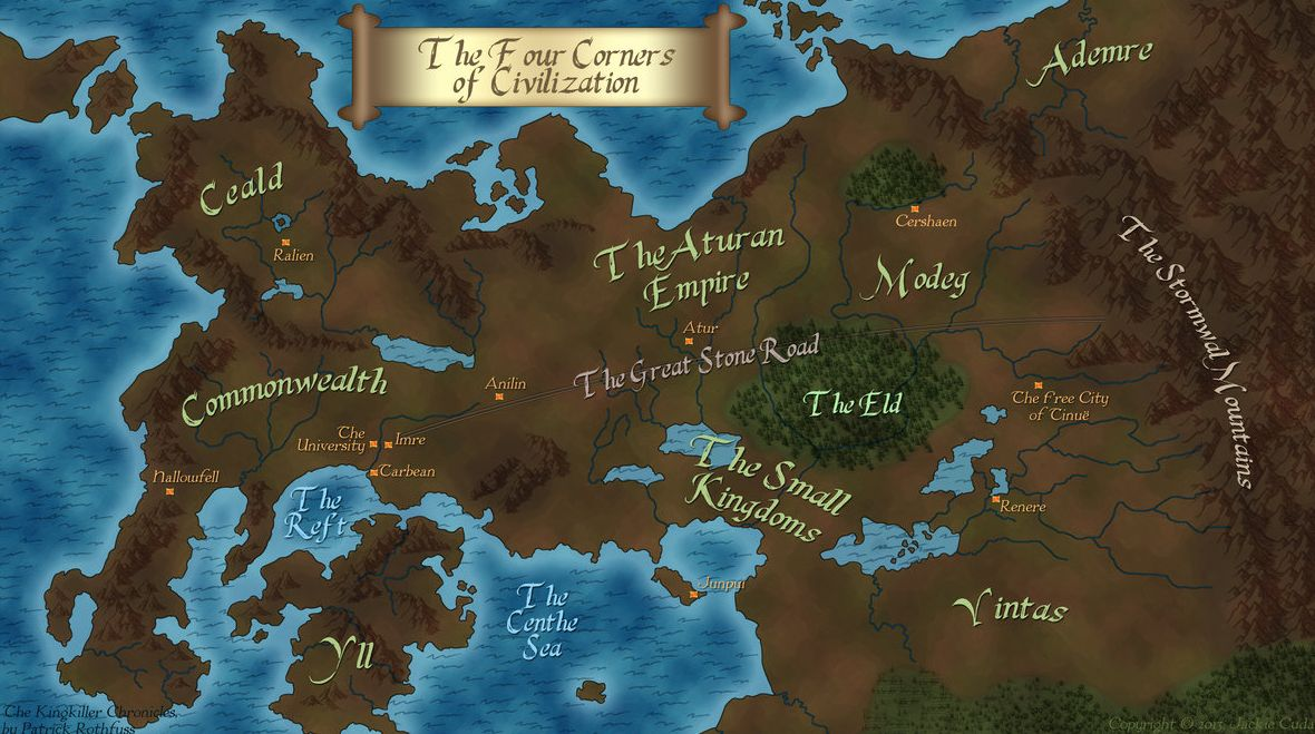 map world of warcraft minecraft with Lionsgate Taps John Rogers As Showrunner For The Kingkiller Chronicle Tv Series on Minecraft City Maps further Cities Skylines in addition El Salvador Location In World Map together with Culture Captives Settlement Sack Option Tech Trees A Little Bit Too Much likewise Adventurous Scenario 1 Chickens Courage.
