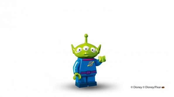 "Alien from ""Toy Story"" in Lego mini figure form"