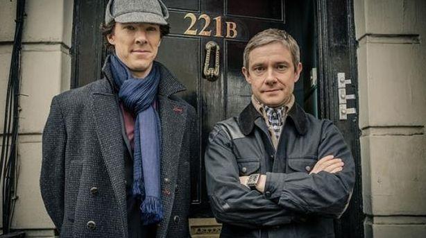 Benedict Cumberbatch and Martin Freeman ins 'Sherlock'