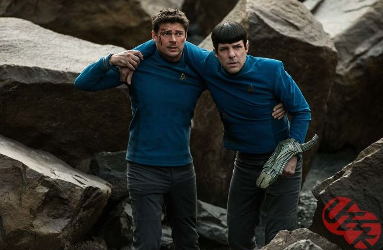 Karl Urban and Zachary Quinto in Star Trek Beyond