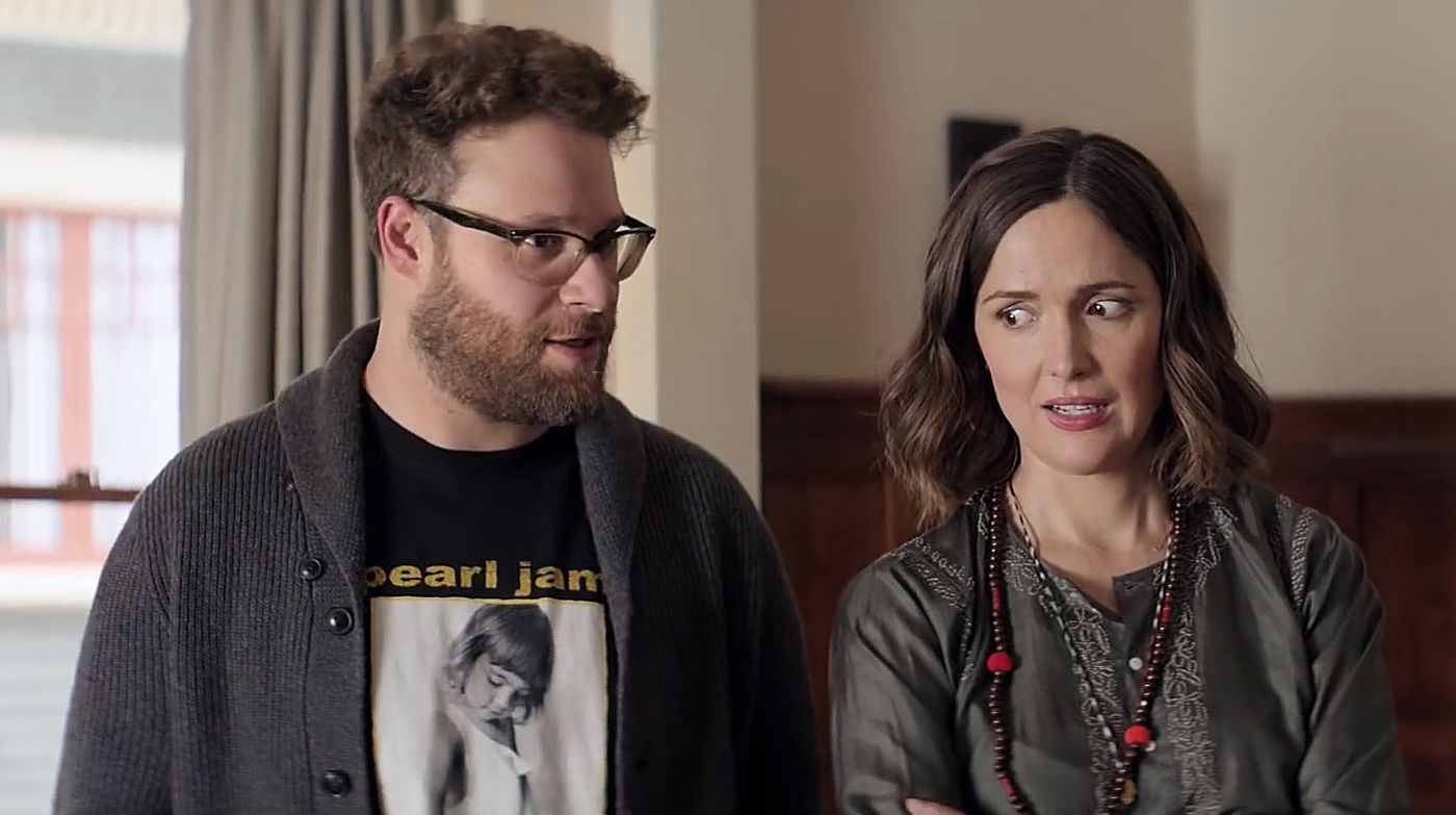 "Seth Rogen and Rose Byrne in ""Neighbors 2""."
