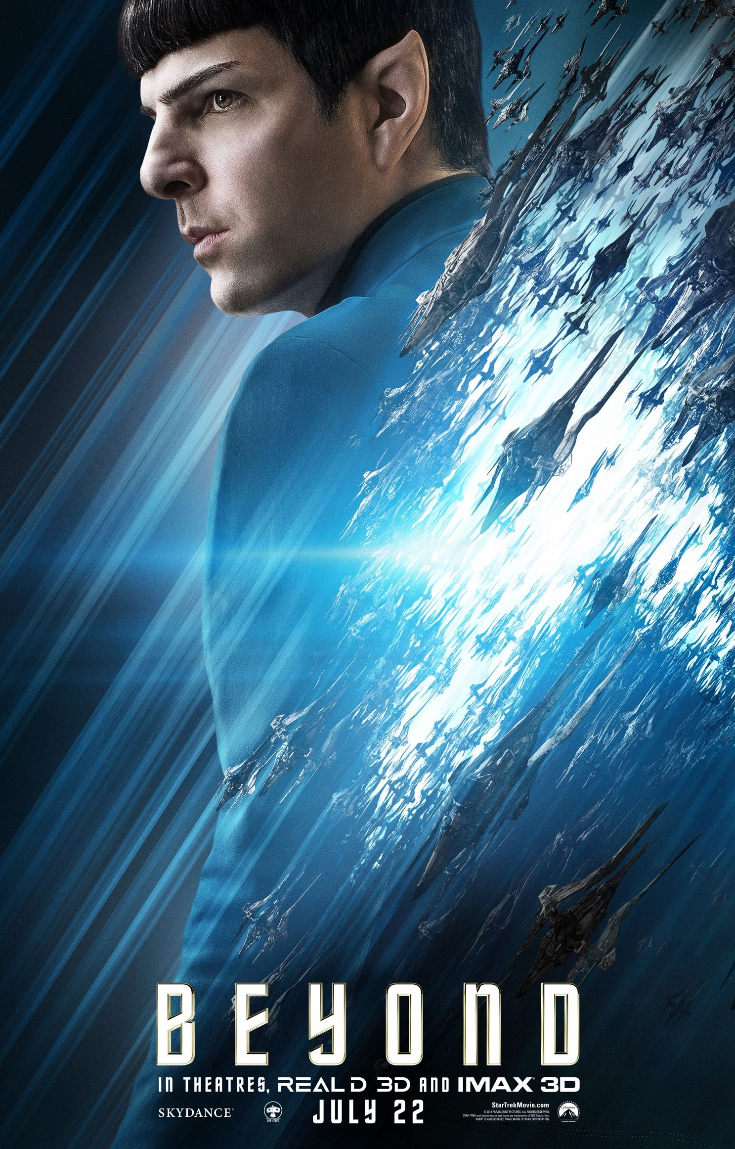 Zachary Quinto as Spock in newly released Star Trek Beyond c