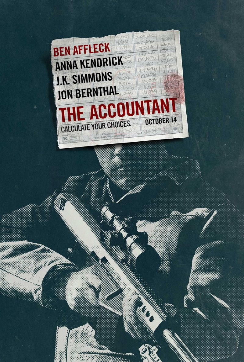 """The first poster for """"The Accountant"""" starring Ben Affleck"""