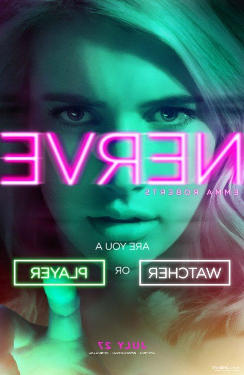 Nerve poster starring Emma Roberts