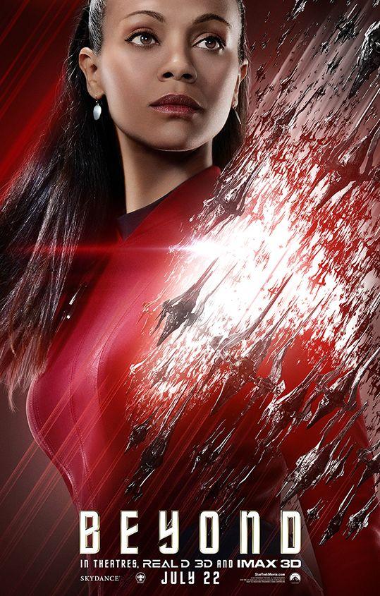 Zoe Saldana as Uhura in Star Trek Beyond Character Poster