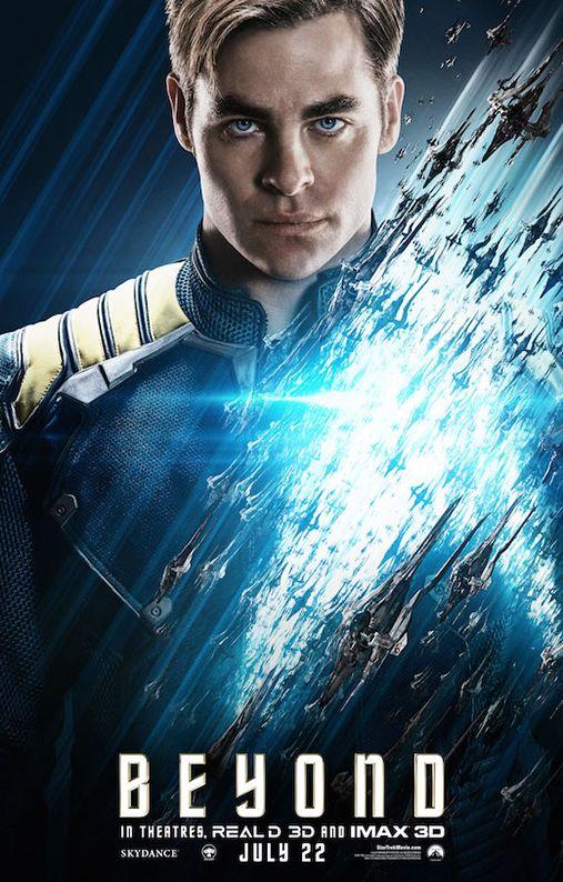 Captain Kirk portrayed by Chris Pine in Star Trek Beyond