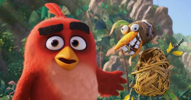 "Red (voiced by Jason Sudeikis) in ""The Angry Birds Movie"""