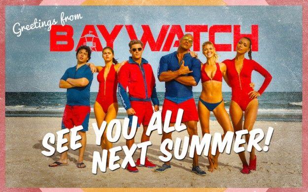 Baywatch postcard