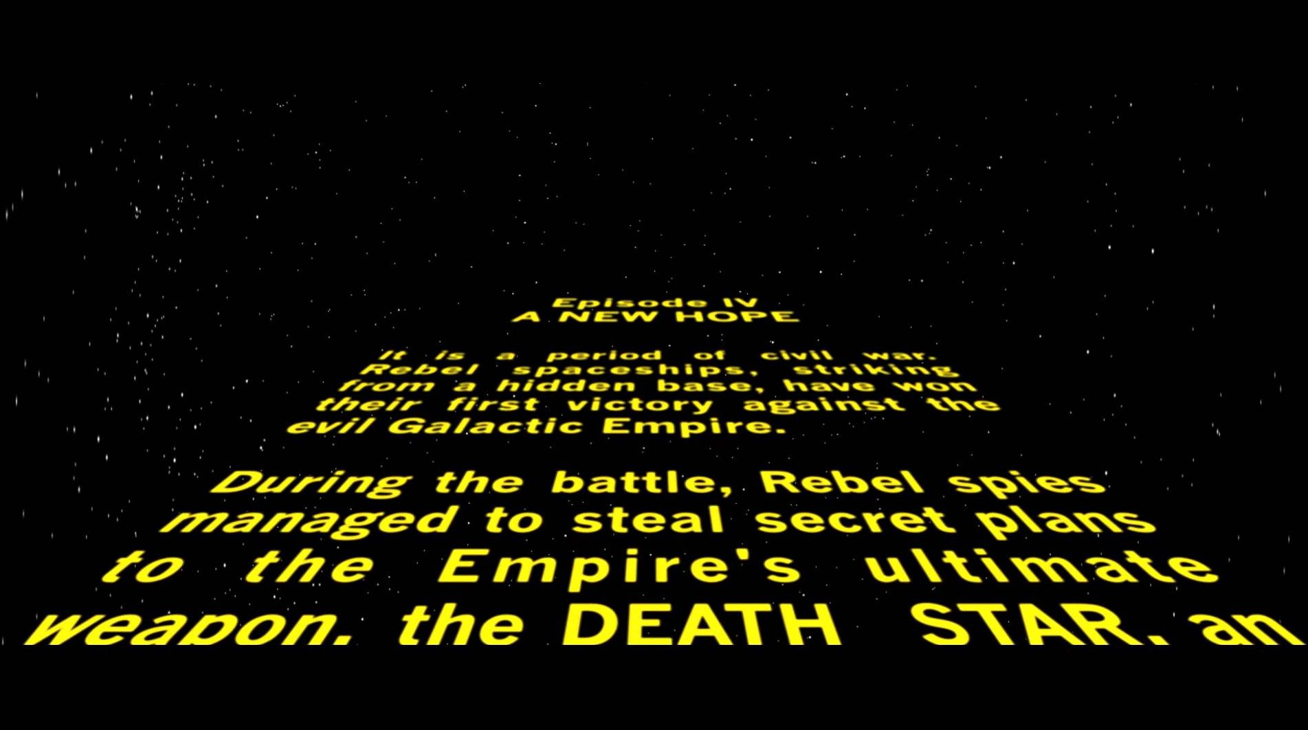 Star Wars Episode Iv Opening Crawl Cultjer
