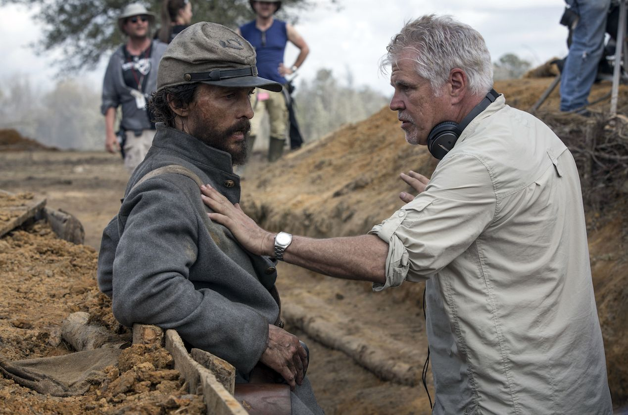 Gary Ross and Matthew McConaughey on the set of Free State o