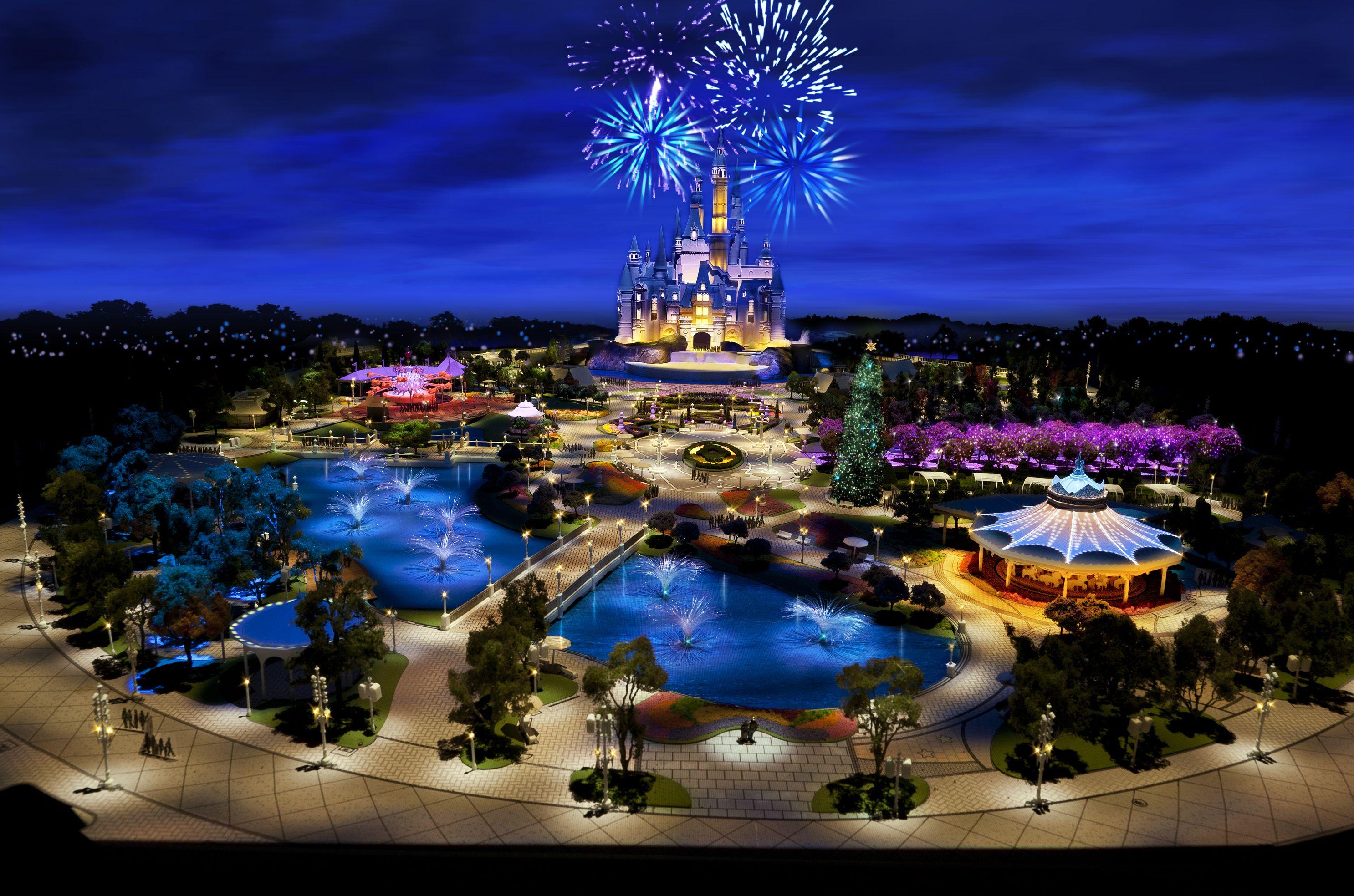 Shanghai Disneyland's hub is very different