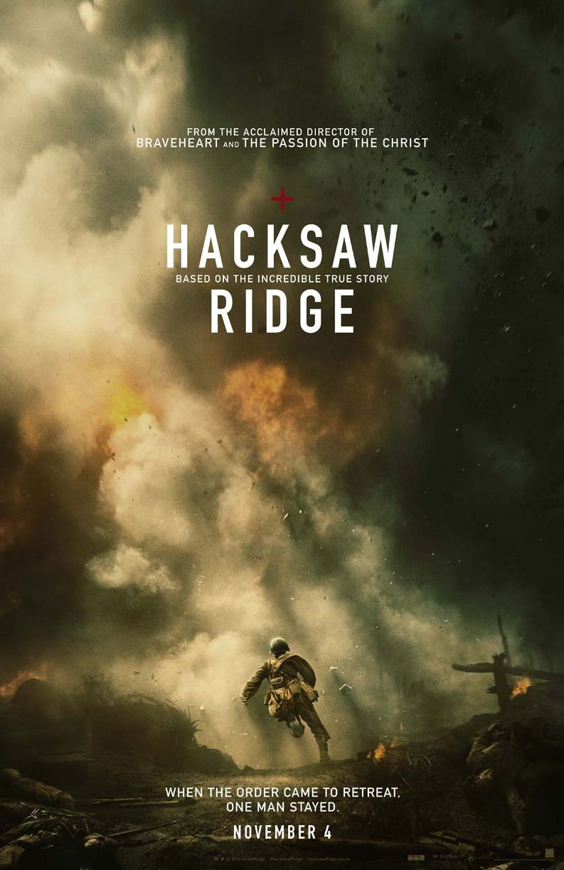 First official poster for the Mel Gibson-directed WWII drama
