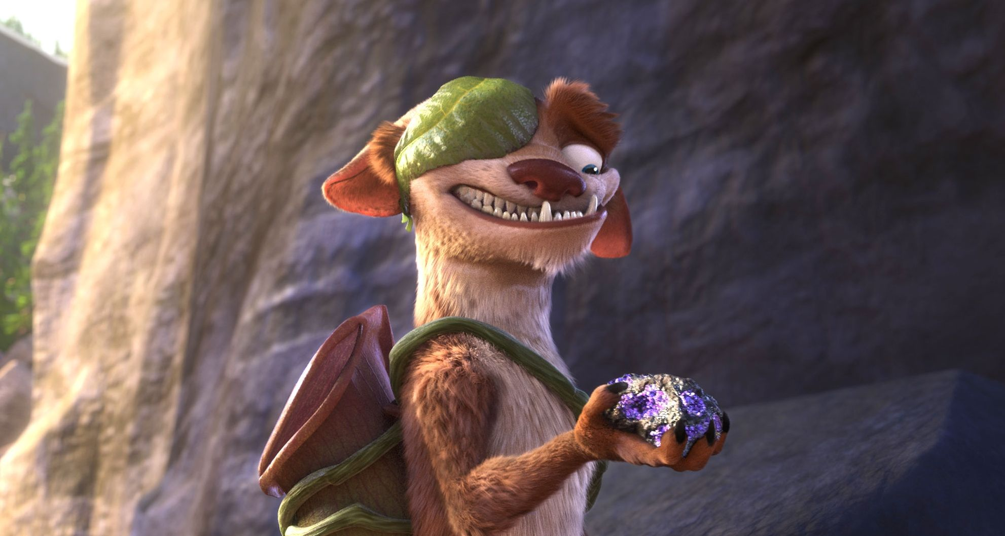 """Buck (voiced by Simon Pegg) in """"Ice Age: Collision Course"""""""