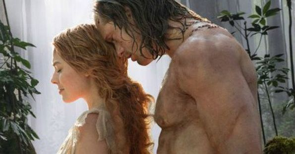 "Margot Robbie and Alexander Skarsgard in ""The Legend of Tarzan"""