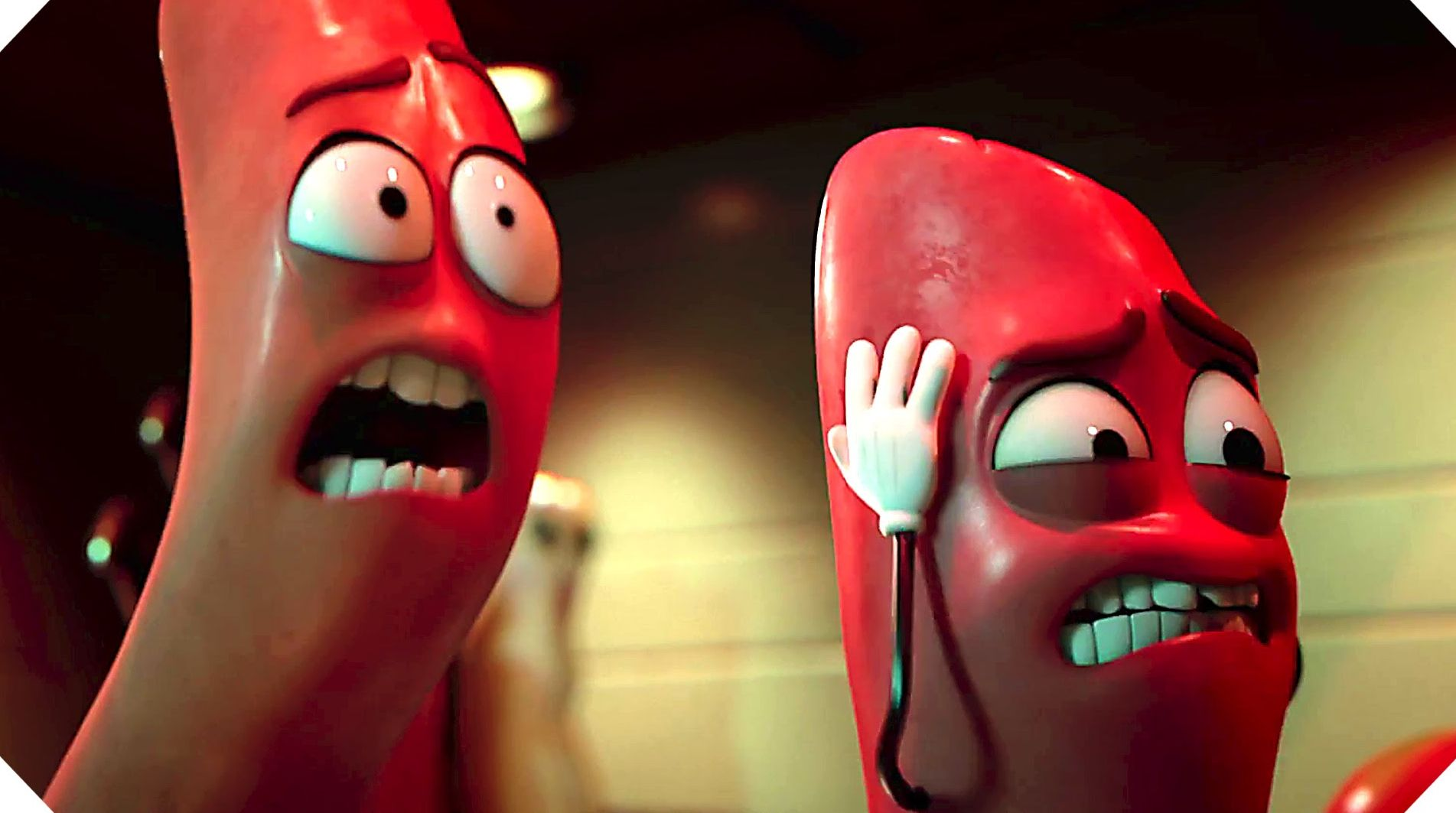 "Frank (Seth Rogen) and Barry (Michael Cera) in ""Sausage Party"""