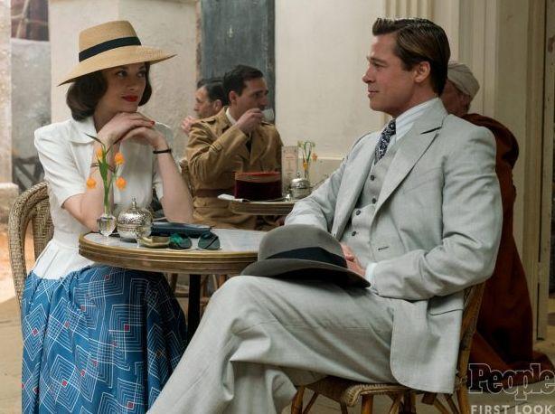 Marion Cotillard and Brad Pitt in Robert Zemeckis's WWII dra