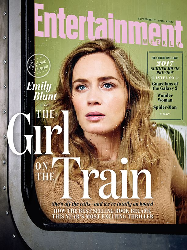 """""""The Girl on the Train"""" Entertainment Weekly Cover"""