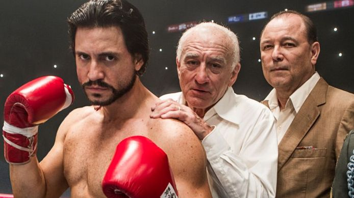 "Edgar Ramirez, Robert De Niro, Ruben Blades in ""Hands of Stone"""
