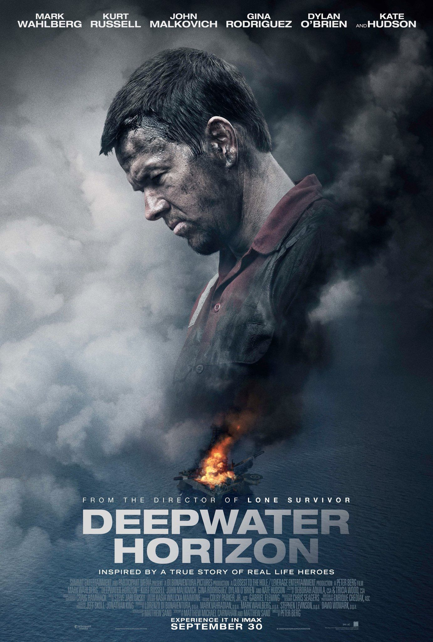 "New poster for ""Deepwater Horizon"" directed by Peter Berg an"