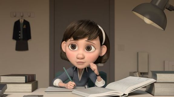 """""""The Little Girl"""", voiced by Mackenzie Foy, in """"The Little P"""