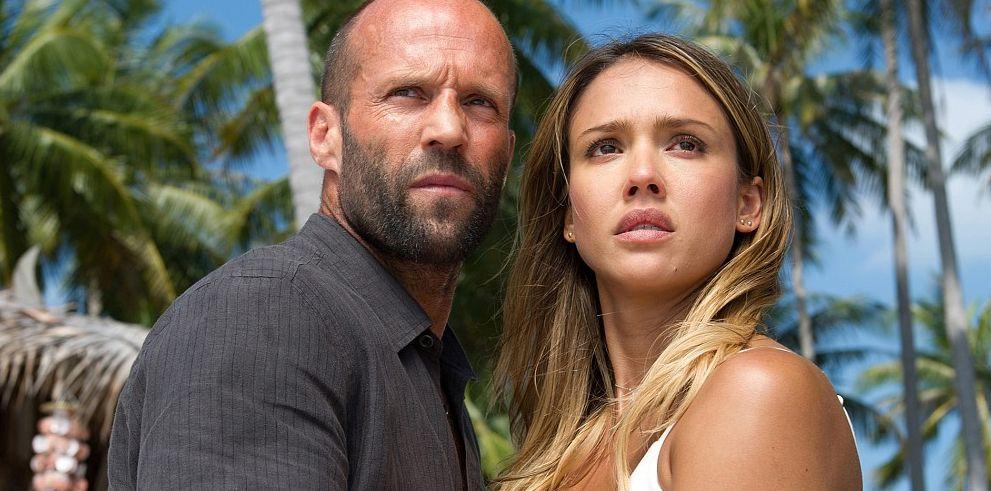 "Jason Statham and Jessica Alba in ""Mechanic: Ressurection"""