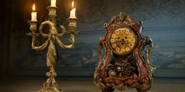 First look at live action versions of Lumiere and Cogsworth!