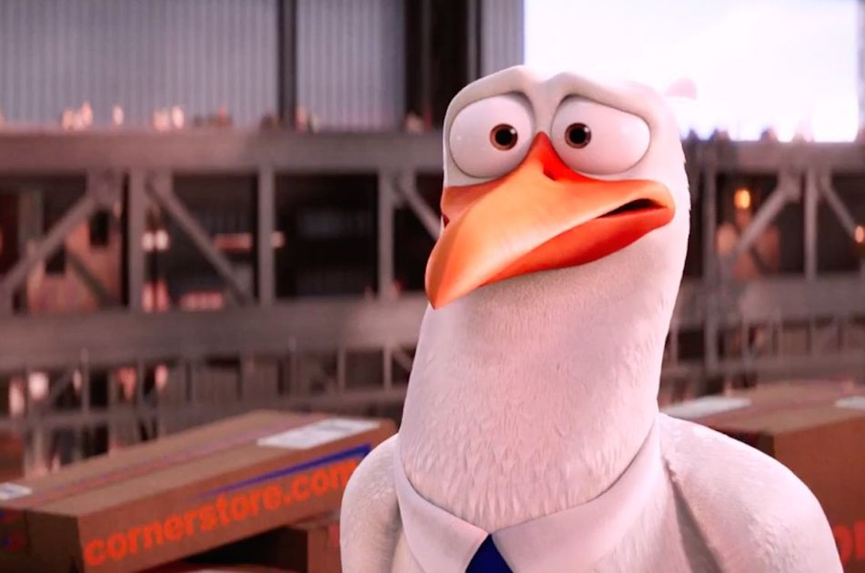 "Junior (voiced by Andy Samberg) in ""Storks"""