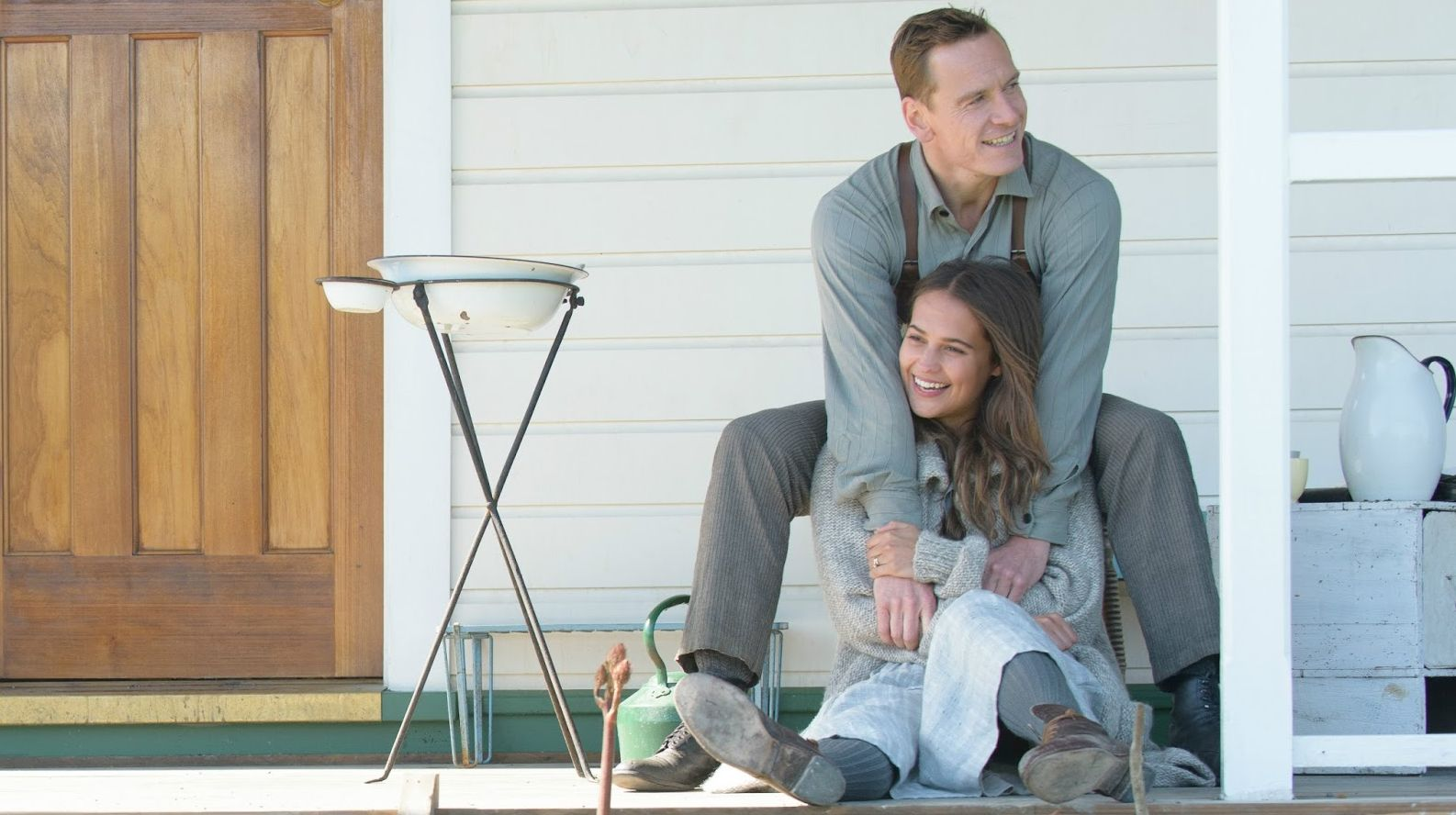 "Michael Fassbender and Alicia Vikander in ""The Light Between Oceans"""