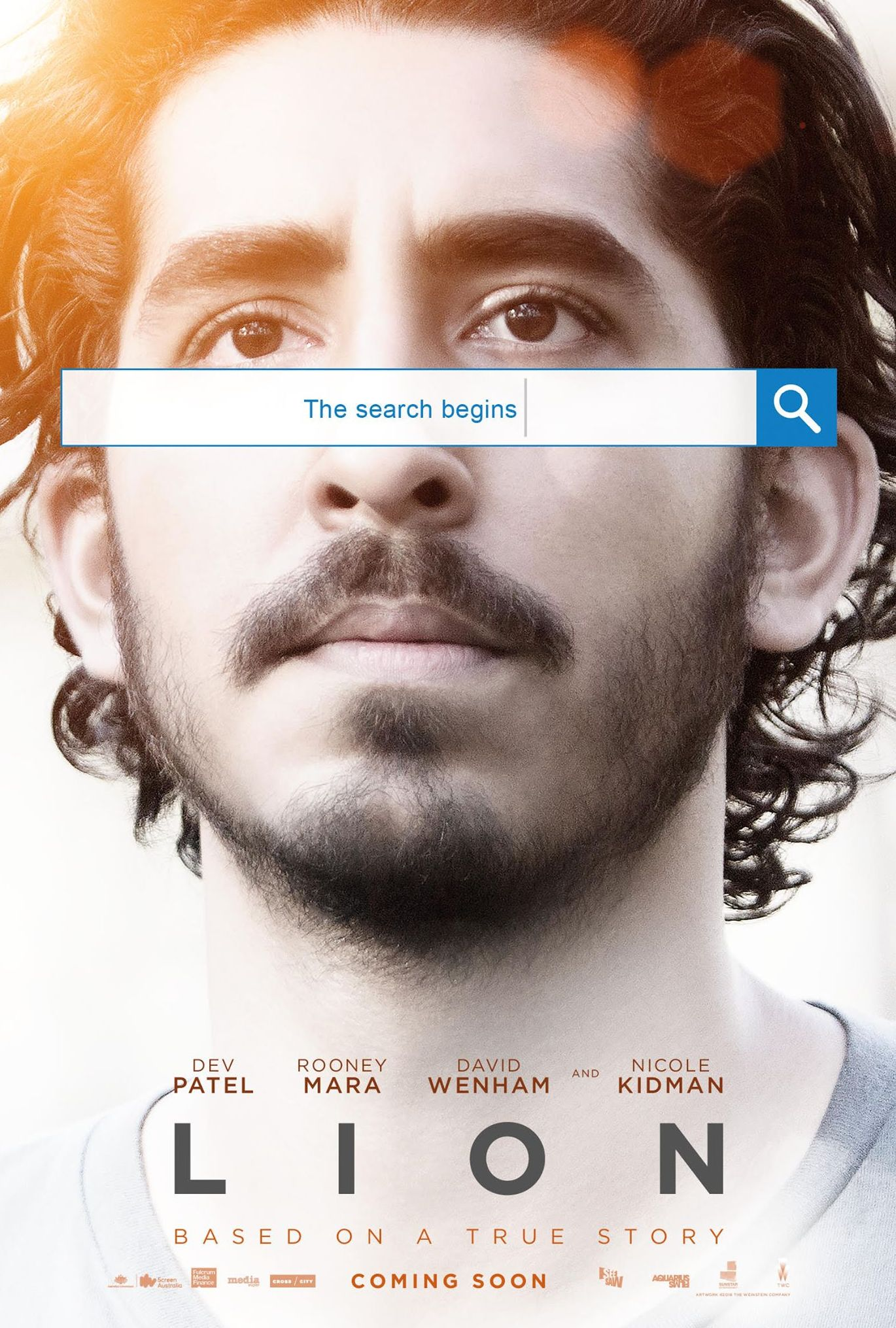 'Lion' (2016) Poster - Dev Patel and Rooney Mara