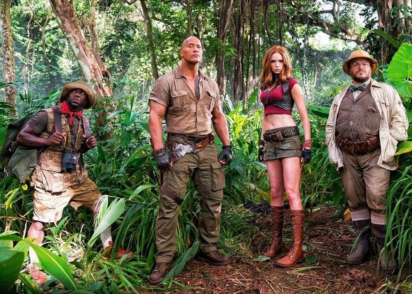 "First look at ""Jumanji"" starring Dwayne Johnson, Kevin Hart,"